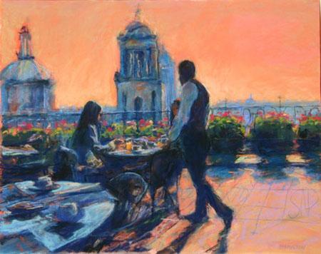 Breakfast Over Mexico City