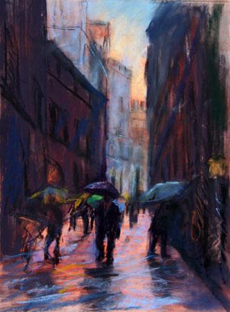 Glowing Through the Rain